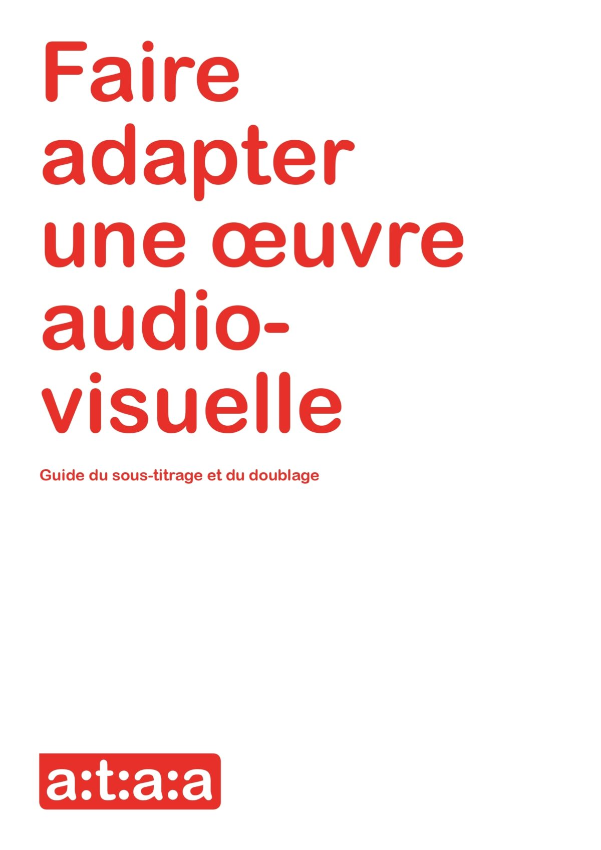 Brochure de la traduction audiovisuelle